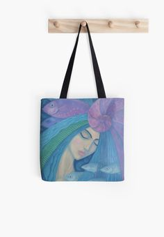 """""""The Pearl, Mermaid Princess, underwater fantasy art"""" Tote Bags by clipsocallipso 