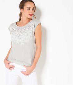CAMAIEU – T-shirt femme fleuri