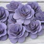 Large Wooden Roses- Lilac Lavender Purple