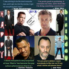 This is definitely a 4 in one excitement for macho fans of these Hollywood cream actors. Happy Birthday to you Arnold Schwarzenegger, Simon Baker, Laurence Fishburne and Jean Reno. Lawrence Fishburne, Muscular Man, Jean Reno, Simon Baker, Quotes By Famous People, Arnold Schwarzenegger, Pretty Good, Friendship Quotes, Something To Do