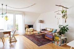 Helles Ess Wohnzimmer Mit Balkon Livingroom Einrichtung Teppich