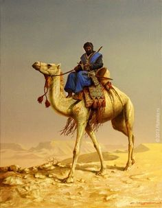 Titre : The Touareg 2013 Stanislav Plutenko ,Peintre Russe Camelo Bactriano, Arabian Art, Arabian Nights, North Africa, Islamic Art, Character Art, Fantasy Art, Illustration Art, Fine Art