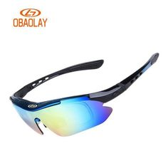 OBAOLAY Cycling glasses 5 Lens Bike Ploarized Goggles Sunglasses Fishing Radar EV Eyewear Ciclismo Occhiali with Myopia Frame