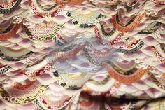 Stoff japanische Motive - Japanische traditionelle Tuch vergoldet. - ein Designerstück von DIY-District bei DaWanda