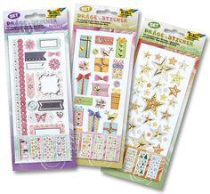 Unsere hochwertigen Präge-Sticker mit Folienprägung eignen sich hervorragend zum Verzieren Ihrer Grußkarten, Bastelarbeiten, Scrapbooking und vielem mehr. www.folia.de