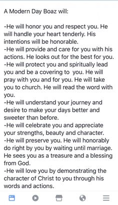 I just read the book of Ruth in my One Year Bible. I fell in love w… I love this! I just read the book of Ruth in my One Year Bible. I fell in love with this story! So beautiful the way he treats her! Bible Verses Quotes, Faith Quotes, Godly Man Quotes, Godly Relationship Quotes, Scriptures, Relationship Goals, Christian Life, Christian Quotes, Godly Dating