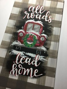 Diy Christmas Decorations, Christmas Wood Crafts, Outdoor Christmas, Christmas Projects, Holiday Crafts, Christmas Ideas, Christmas Truck, Christmas Door, Christmas Signs