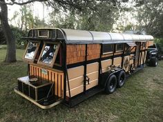 GYPSY WAGON for sale on the Tiny House Marketplace. Former 6 horse trailer has been beautifully and artfully transformed into the most cozy, unique and Tiny House Cabin, Tiny House Living, Tiny House On Wheels, Tiny House Design, Small Tiny House, School Bus Tiny House, School Bus Camper, Vw Camper Bus, Volkswagen Bus Interior