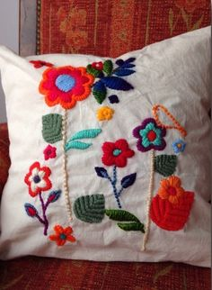 Almohadones bordados - Mexican Embroidery Keka❤❤❤
