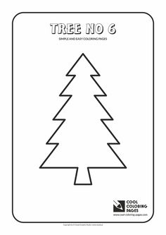 simple and easy coloring pages for toddlers tree no 6