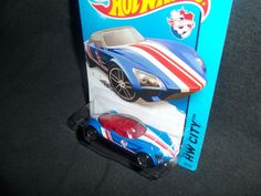 Hot Wheels 2014 Avant Garde HW City HW Goal Soccer Blue 20/250 #HotWheels