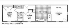 Single Wide Mobile Home Floor Plans 2 Bedroom Bedroom