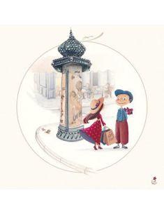"""Carte d'Art """"Paris, la Colonne Morris"""""""