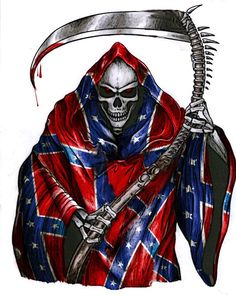 ... Tattoo Grim Reaper Rebel Flags Tattoo Design Flags Backgrounds