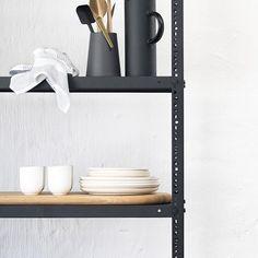 Kitchen steel shelving - powder coated - sand black – vanStaal