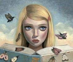 Las palabras revolotean en nuestra imaginación, como pequeñas mariposas (ilustración de Ana Bagayan)