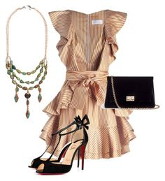 """New Years Party"" by priscilla09c on Polyvore featuring Zimmermann, Rodo and Christian Louboutin"