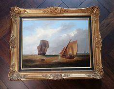 Wundervolles Seestück: Marinegemälde um 1850. Segelschiffe Ölgemälde  WILLIAMS