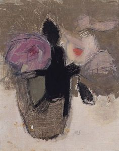 Helene Sofia Schjerfbeck 'Still Life with Flowers' (Nature morte avec des fleurs) 1944