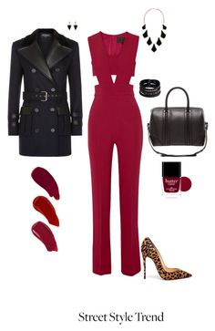 """Untitled #6827"" by erinlindsay83 ❤ liked on Polyvore featuring Cushnie Et Ochs, Balmain, Christian Louboutin, Givenchy, Replay, Vita Fede, Kendra Scott, Butter London and Ellis Faas"