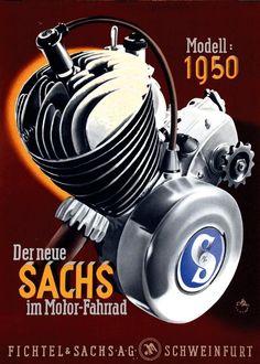 1950 Der neue Sachs im Motor-Fahrrad