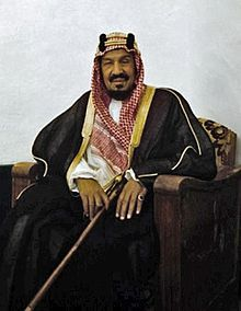 Ibn, Saud (Abdulaziz), founder of the Ikwhan (1912) 1st King of Saudi Arabia in 1932 after uniting his dominions into the Kingdom of Saudia Arabia. He also defeated the last Ottoman caliph contender in 1925, and captured Mecca from the Hashemites.