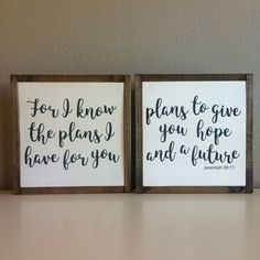 For I know the plans I have for you Jeremiah 29:11/ wood sign / wooden sign /painted sign/ scripture art / Bible verse sign / home decor by LifeLessOrdinaryShop on Etsy https://www.etsy.com/listing/488177227/for-i-know-the-plans-i-have-for-you