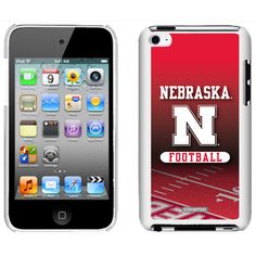 Nebraska Football Field Nebraska design on iPod Touch Snap-On Case by Coveroo in White