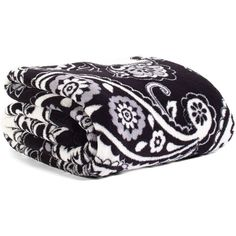 Vera Bradley Throw Blanket in Midnight Paisley ($49) ❤ liked on Polyvore featuring home, bed & bath, bedding, blankets, back to school, midnight paisley, vera bradley blanket, lightweight throws, lightweight blanket and oversized throw blanket