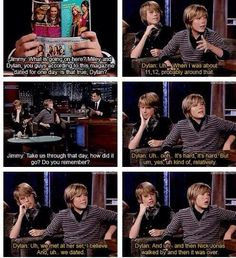 (via Tiffany Lambert) dylan sprouse TALKS ABOUT DATING MILEY  CYRUS AND GETTING DUMPED WHEN NICK JONAS WALKED BY THEM.