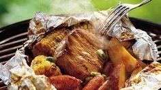 Grilled Honey BBQ Pork Packs recipe from Betty Crocker