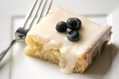 Almond sheet cake  - This is so good! - it's taste like a petit four
