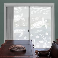 Gulls Headed to Lunch Glass Doors and Windows Coastal Design Series Custom Sizes Available For Shower Doors Etched Decal 23 tall x 20 wide