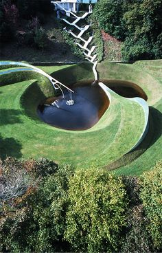 """The Garden of Cosmic Speculation"", Dumfries, Scotland designed by Charles Jencks"