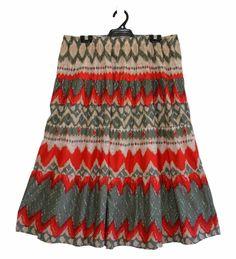 Free Postage (Size 20) Autograph Skirt - Aztec Tribal - Zig Zag Pattern