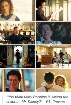 "Saving Mr Banks - ""You think Mary Poppins is saving the children, Mr Disney?"""