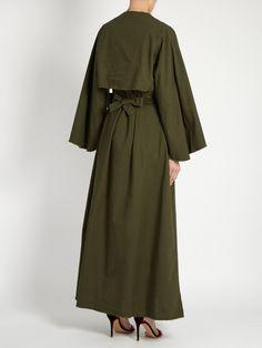 Attico Joanna raw-edged cotton dress