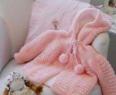 Casaco Bebê em Tricô – Moda Croche