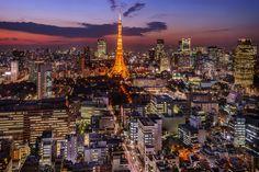 Tokyo Tower by myy_t on World Street, Tokyo Tower, Paris Skyline, Japan, Travel, Decoration, House, Decor, Viajes