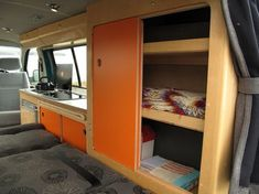 Annie - 2 berth camper, 2004 1.9 T5, 5 belted seats, 3 way fridge, removable rock and roll bed, traders module | Cambee