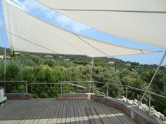 Voiles pour terrasses sunsquare on pinterest pergolas sun sail shade and - Voile ombrage terrasse ...