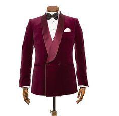 Maroon Tuxedo! Velvet Suit, Velvet Blazer, Red Velvet, Maroon Tuxedo, Cheap Club Dresses, Velvet Dinner Jacket, Smoking Jacket, Mens Sport Coat, Bespoke Tailoring