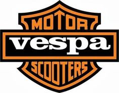 We always knew something about that logo looked familiar! Vespa Gts, Piaggio Vespa, Lambretta Scooter, Scooter Motorcycle, Vespa Scooters, Vespa Illustration, Vespa Logo, 70s Cartoons, Harley Davidson Logo
