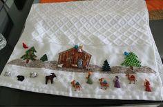 Feliz Navidad , hoy les comparto esta linda toalla decorada con botones Nativity Crafts, Christmas Nativity, Christmas Art, Christmas Decorations, Xmas, Christmas Ornaments, Holiday Decor, Christmas Bathroom Sets, Christmas Towels