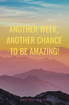 New week, new Monday. Be amazing this week, be motivated and do something useful.  #lifeinspiration #motivation #Inspiration #quotes #monday