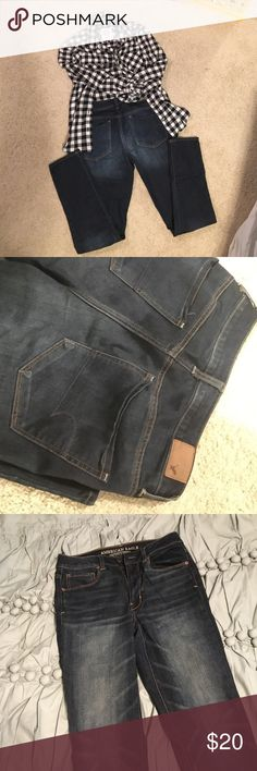 SALE‼️AE Skinny Jeans Dark was skinny jeans, brand new without tags! Nothing wrong with them, they are just too small for me. Regular length, size 6. American Eagle Outfitters Jeans Skinny