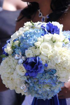 Blue Bridal Bouquet Blue Wedding ByJustin.biz