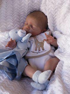 Custom reborn baby newborn doll Kyle. Kit by Pat Moulton