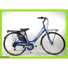 CicloSport DEA 28 Alluminio 6V Shimano Bianco-Azzurro