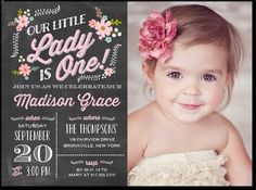 My baby girll's 1st birthday party invitation!